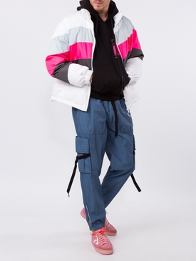 multicolor puffer jacket