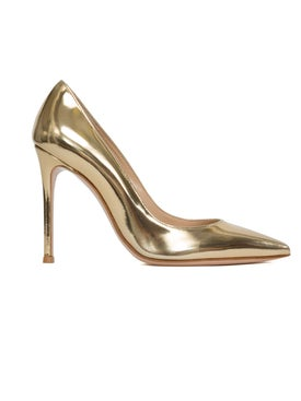 Gianvito Rossi - Gold Metallic 105 Pump - Pumps