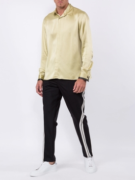 yellow contrast cuff shirt