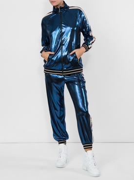 logo stripe track jacket