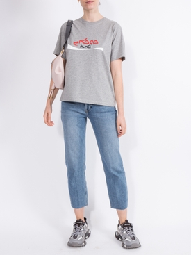 CROPPED COCAINE T-SHIRT SILVER