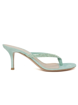 Gianvito Rossi - Suede Thong Sandal - Women