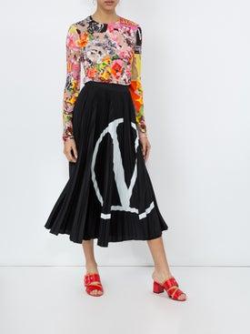 Versace - Long Sleeve Sheer Jersey Blouse - Women