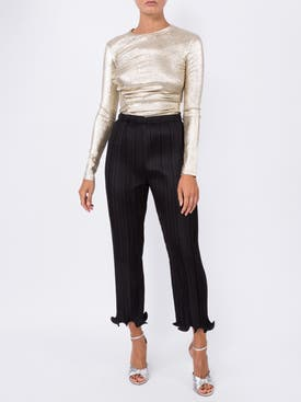 Givenchy - Ruffled Pleated Trousers - Women