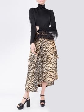 La Jupe Thika leopard print skirt