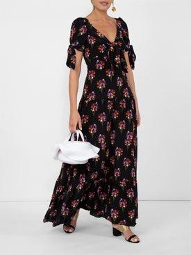 Borgo De Nor - Bow-detailed Print Dress - Women
