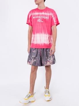 pink tie-dye print T-shirt