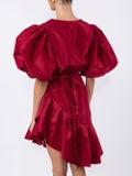 Johanna Ortiz - Red Silk Ruffled Dress - Women