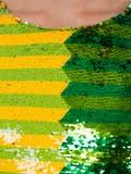 Halpern - Green And Yellow Sequin Mini Dress - Women