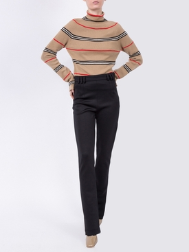 Black skinny jersey leggings