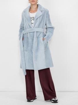Faux Fur Overcoat BLUE