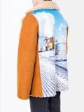 Duo - Graphic Print Sheepskin Jacket - Men