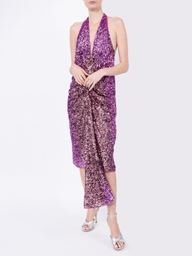 purple sequined dress