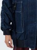 Fendi - Over-sized Denim Bomber Jacket - Women