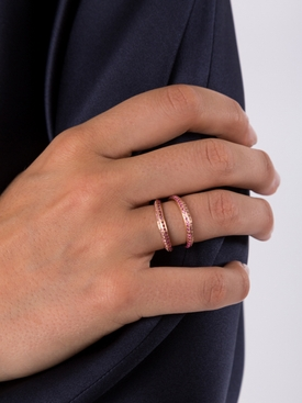 Modernist Rose Gold Split Ring