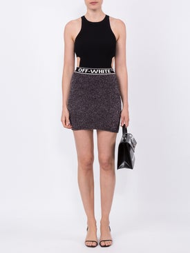 Off-white - Metallic Knitted Mini Skirt - Women