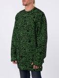 Balenciaga - Green Slogan Print Sweater - Sweaters & Knitwear