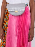 Wandler - Anna Croco Grey Big Belt Bag - Women