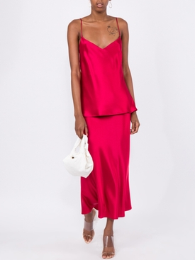 Raspbery red SATIN V-NECK CAMISOLE