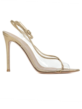 Nude and gold sandals