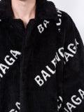 Balenciaga - All Over Logo Coat - Men