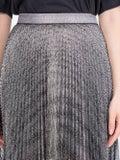 Christopher Kane - Pleated Lamé Mesh Skirt Silver - Women