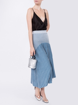 ribbed knit skirt BLUE