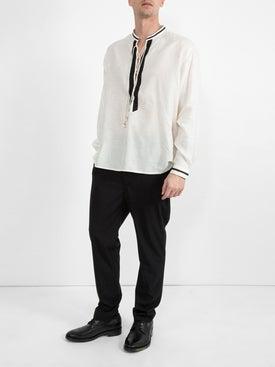 Saint Laurent - Cotton Lace-up Tunic - Men