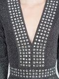 Balmain - Lurex Fitted Mini Dress - Clothing