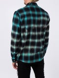 Amiri - Tie Dye Checked Shirt Black Green - Men