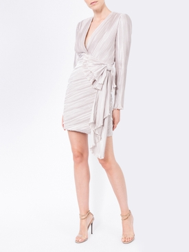 draped detail pleated dress
