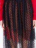 Christopher Kane - Dot Tulle Gathered Skirt Black - Women