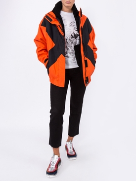 orange contrast X detail jacket