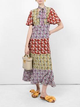 Valentino - Floral Silk Tieneck Dress - Women
