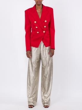 Classic Peaked Lapel Blazer RED