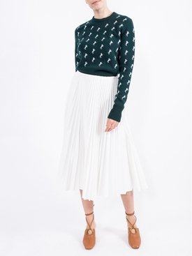 Coated Tulle Midi skirt