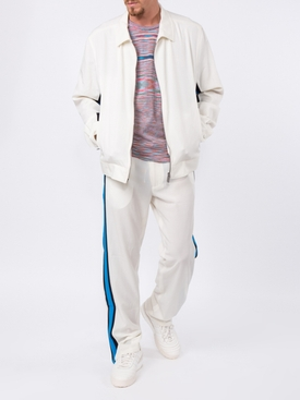 side stripe track pants WHITE