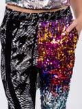 Halpern - Multi-pattern Sequined Trousers Multicolor - Women