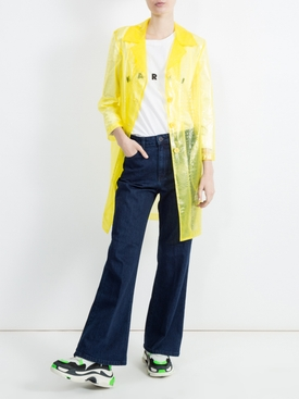 croc-effect plastic coat YELLOW