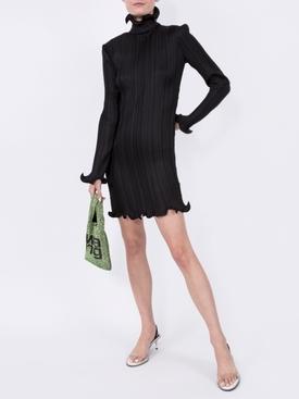 ruffled pleated dress