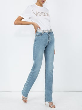 Versace - Logo-front Cotton T-shirt - Women