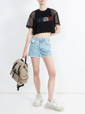 Stella Mccartney - High Rise Denim Shorts - Women