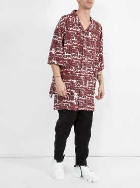 PATCHWORK OVERSIZED CARROT FIT TROUSERS