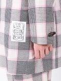 Julien David - Pink And Black Check Print Blazer - Men