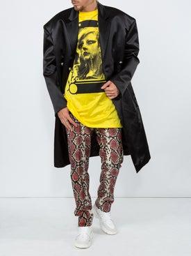 Raf Simons - Shiny Tailored Coat - Long