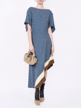 jacquard asymmetric dress