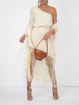 Johanna Ortiz - Fringed One Shoulder Dress - Women