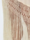 Johanna Ortiz - Fringed One Shoulder Dress Neutral - Women