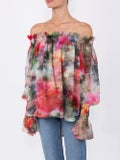 Adam Lippes - Floral Print Off-shoulder Top - Women