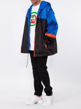 GG jacquard nylon vest jacket